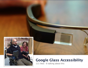 Google Glass Accessibility page on Facebook